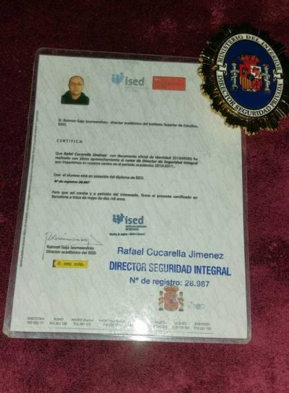 certificado director de seguridad
